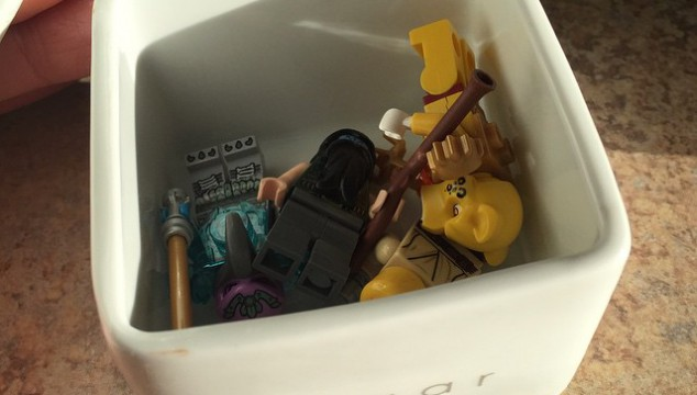 Somehow, finding Legos in the sugar dish seems completely reasonable.